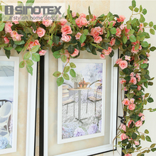 170cm Silk Artificial Flowers Rose Fake Flowers Vine Rattan Floral Wedding Decoration Home Accessories Mariage Party Flores(China)