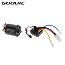 GOOLRC RC Motor 540 27T 4 Poles Brushed Motor WP-1060-RTR 60A Waterproof Brushed ESC with 5V 2A BEC for 1:10 RC Car Parts