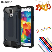 HATOLY sFor Cover Samsung Galaxy S5 Case Silicone Rubber Armor Hard Phone Case For Samsung Galaxy S5 Cover For Samsung S5 Bag #<(China)