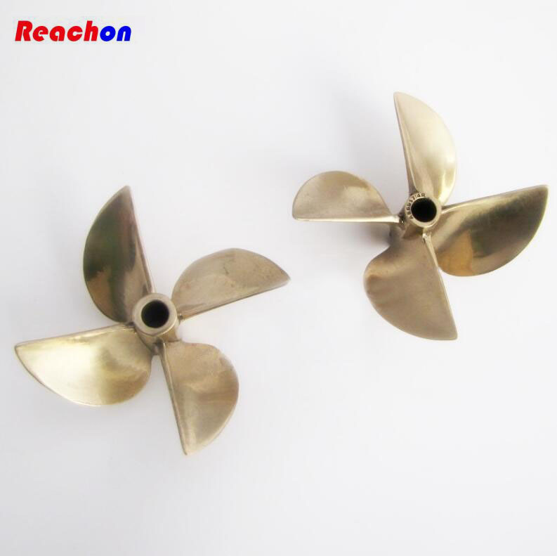 Free Shipping AS6717 4 blade Copper Propeller for RC Racing O / Gasoline boat Positive Reverse Half submerged propeller CW CCW<br>
