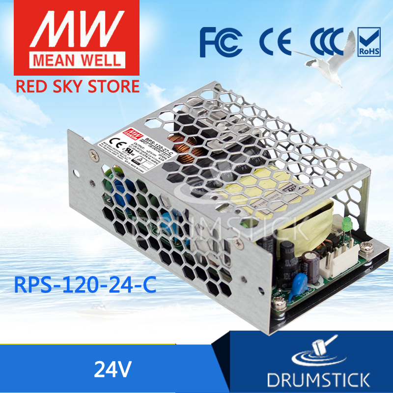 Advantages MEAN WELL original RPS-120-24-C 24V 5A meanwell RPS-120 24V 120W Single Output Green Medical Type<br>