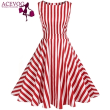 Buy ACEVOG Vintage Swing Dress Women 1950S 60S Retro Garden Party Picnic Dresses Cocktail Tunic Rockabilly Vestidos Robe Plus Size for $18.31 in AliExpress store