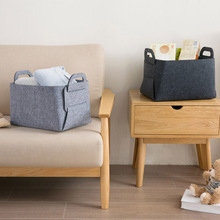 Portable Folding Felt Bag Clothing Toy Snacks Storage basket Fireplace Bag Locker Newspaper Rack Home Organization(China)