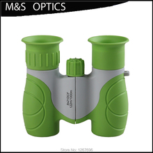 Hot sale 8x21 Children's Plastic Optical Sight Binoculars Telescope For Hunting and Travel with strap High Clear Vision Green(China)