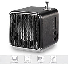 Hot TD-V26 Portable Speaker Digital LCD Display Support Micro SD / TF/ USB Flash/ 3.5mm Audio/FM Radio Music Player Speaker