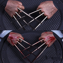1/6 Scale metal Claws Hand Types realistic hair For Wolverine Logan Figures Bodies With Blood or Without Blood(China)