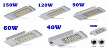 Best price 30W 40W 70W 100W 250W halogen lamp HPS MHL HID CFL replacement Fedex free shipping LED street lighting fixture(China)