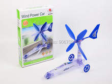 Build Your Own kit Wind Powered Car Older Boys Educational Kit Toys,New Green Energy Removable Windmill Plane Assembled Toys