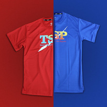 TSP 83501 Table Tennis Jerseys T-shirts for Men / Women Ping Pong Cloth Sportswear Training T-Shirts(Hong Kong)