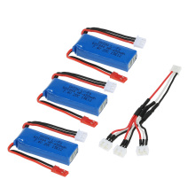 3Pcs 7.4V 450mAh 20C Lipo Battery 2S with Connecting Cable for WLtoys K969 K989 K999 P929 P939 RC Car