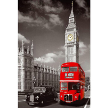 DIY Diamond Painting Red London Bus Decorative Picture of Rhinestone Mosaic Cross Stitch Diamond Pattern 5D Diamond Embroidery