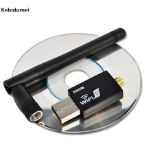 Kebidumei USB WIFI RT8192 300Mbps USB Wireless Networking LAN Adapter Antenna Adapter for Laptop PC Computer WPS Supported(China)