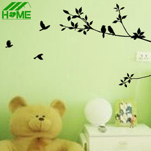 Birds on Branches Tree Wall Stickers Home Decor Posters For Kids Living Rooms Sticker Poster Decoration Decals Room Accessories