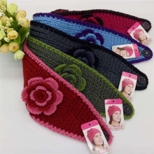 2017 Autumn And Winter Hook Edge Color Flowers Knitted Ladies Hand Hairband Warm Wool Headband