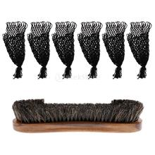 Durable Snooker Billiard Table Brush Cleaner With 6 Pieces Pool Table Nets Pockets Meshes Set Accessories