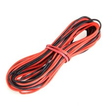 2015 Hot 2x 3M 26 Gauge AWG Silicone Rubber Wire Cable Red Black Flexible