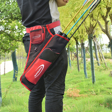 1PC New Three Tube Quiver Arrow Bag Red Color Arrow Quiver Bag For Hunter Outdoor Hunting And Shooting Free Shipping(China)