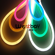 Mini 24V LED Neon flex in red,blue,green yellow,orange,pink, white, warm white for holiday lighting and events(China)