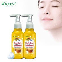 Kustie Best Selling Brand Purifying & Moisturizing Balance Honey Extract Deep Cleansing Bubble Facial Cleanser 138ml(China)