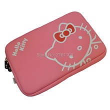 "Carton Hello Kitty Sleeve Soft Pouch Case Cover Pink Bag for MacBook Pro/Air w/Retina 13"" 11""(China)"