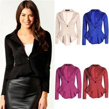 Buy 2015 Autumn Women Solid Slim Blazers Fashion Long Sleeve Lapel Suit Drape Hem Blazers Feminino Suit Jacket Plus Size S-XXL A019 for $11.95 in AliExpress store