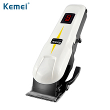 Kemei 809A Professional LCD Electric Hair Clipper With 4 Limit Comb Rechargeable Shaver Razor Cordless Adjustable Salon Clipper