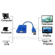 kebidu 1080P 1920X1080 USB3.0 to VGA Adapter Audio Multi Dsiplay Graphics Cable Digital Converter For PC Laptop TV Projector