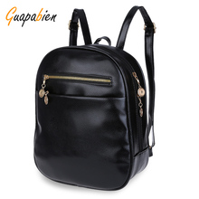 Guapabien 7 Candy Color Women Back Pack Bag Japan Korea Teenage Student School Travel Bagpack Girls PU Leather Small Backpack(China)