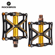ROCKBROS Cycling MTB Bike Ultralight Pedals Magnesium 3 Sealed Bearing Spindle Mountain Road Bicycle Pedals Bicycle Part 5 Color(China)