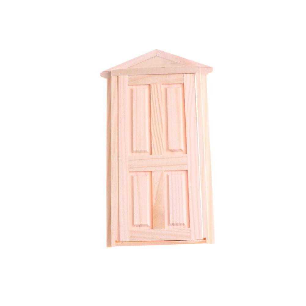 Wooden Door Matching Frame Dollhouse Miniature Exterior Inward-Open ...