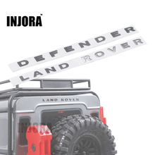 INJORA TRX4 Land Rover Defender Metal Logo Label Sticker for 1/10 RC Crawler Traxxas TRX-4 Trx 4 RC4WD D90 D110(China)