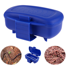 Plastic Fishing Tackle Box Fishing Baits Earthworm Worm Lure Storage Case Tackle Boxes Box For Worms Cap Fishing Accessories