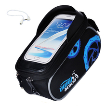 2017 ACACIA Waterproof bike frame top tube bag bicycle bag mountain bicycle accessories Phone bike bag Front 5 5.5 6 inch(China)