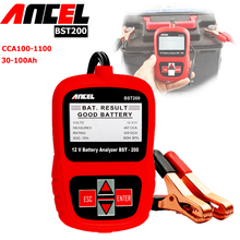 auto battery voltage meter vehicle battery 12v analyzer ancel bst200 car battery load tester(China)