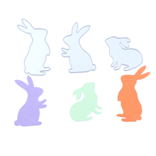 3pcs Jumping Rabbit Metal Steel Bud Sprout Scrapbooking Die Cuts Craft Decorative Embossing Folder Suit Cutting Dies Paper Cards
