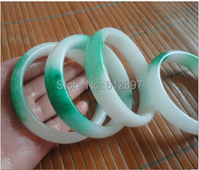 Hot sold Exquisite Jadeite Bangle / Green and White Colorful Bangle for Women's 1 PCS(China)