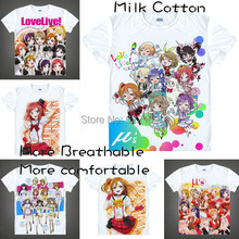 2015 Love Live Eli Honoka Maki T Shirt Anime Japanese Famous Animation Novelty Summer Men's T-shirt Cosplay coolprint shirts(China)
