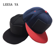 Fancy 3d snapback cap good raised square pyramid hip hop hats Baseball Cap Brand Hats Flat-Brimmed Gorras Casquette Hat for Men