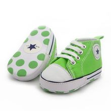 Fashion Infant Tollder Canvas Crib Shoes Baby Boys Girls Sneaker Prewalker 0-18M LL9