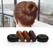 Elastic Hair Band Gum For Hair Accessories Bun Maker Hair Clips Scrunchie Magic Foam Sponge Hair Styling Tool Princess Hairstyls(China)