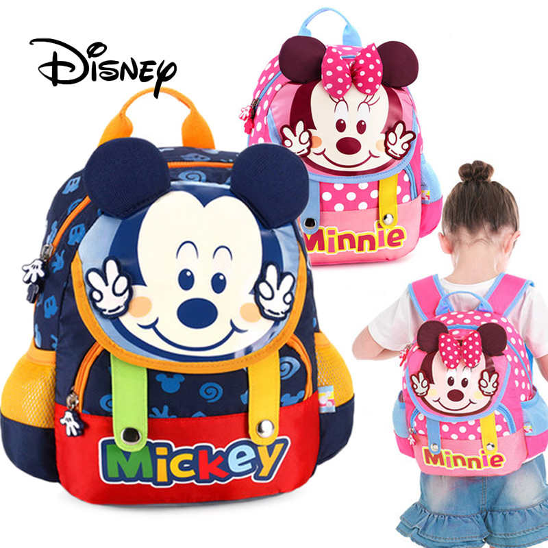 Kindergarten Girls//Boys Mickey Mouse Baby Kids Book Bags Backpacks 3-5Years Old