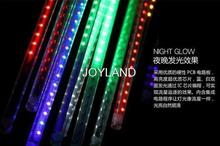 Free shipping Christmas Tree Decoration 12v Best Flash Tree led meteor light outdoor tube rgb(China)
