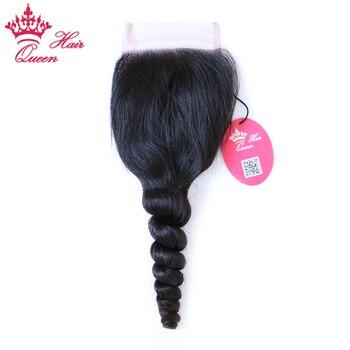 Королева продукты волос бразильский девственные волосы швейцарские закрытия шнурка свободная волна 100% человеческих волос 3.5x4 Бесплатная д...