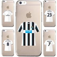 For IPhone7 7Plus 4 5S SE 6 6S Case For Juventus Football Club ARFA Bale Jersey Transparent Silicone soft slim Tpu Phone Cover