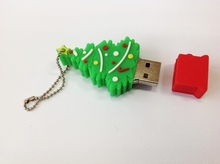 hot sale full capacity  4gb 8gb 16gb 32gb 64gb beautiful christmas trees gift usb flash drive  menory u disk pen drive S566