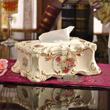Porcelain tissue box ivory porcelain flowers design embossed outline in gold tissue box pumping decoration tissue box gifts