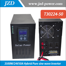 Hybrid Inverter  3000W/24V50A Pure sine wave  Inverter with Solar Charger Controller Use in Solar power System