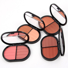 Blush Makeup Blusher Palette Contouring Mineral Powder Blush Cheek Color Natural Face Makeup Products 2 Colors/Set(China)