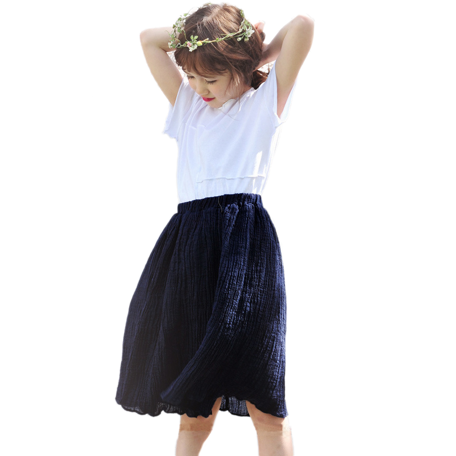 Kids Summer Skirts 2016 New Arrival Mini Cotton Linen Straight Five Candy Colors Girls Baby Summer Princess Skirts 50<br>