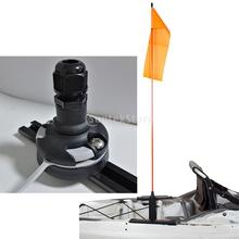 Black Nylon Kayak Safety Flag Base Rail Mount Rest Rack Support Replacement for Marine Canoe Yacht Fishing Boat DIY Accessories
